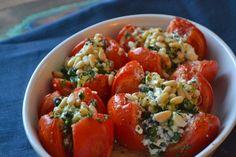 Mijn kookavonturen; Tomaten met feta en kruiden