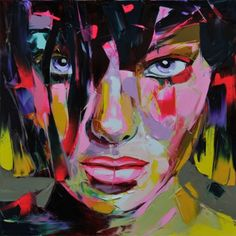 Cheap painting impasto, Buy Quality knife painting directly from China palette knife painting Suppliers: Palette knife painting portrait Palette knife Face Oil painting Impasto figure on canvas Hand painted Francoise Nielly Girl Face Arte Pop, Portrait Male, Pop Art, Images D'art, Palette Knife Painting, Abstract Portrait, Colorful Paintings, Wall Art Pictures, Face Art