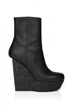 Acne | Black Hydro Lea Wedge Ankle Boot by Acne ($500-5000) - Svpply