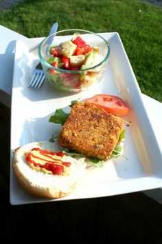 YUM!  Try a little Earth Balance Mindful Mayo on these gluten-free vegan quinoa burgers.