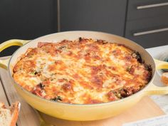 Get Spicy One-Skillet Lasagna Recipe from Food Network