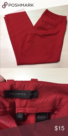 """The Limited Red Cassidy Fit Crop Dress Pants The Limited Red Cassidy Fit Crop Dress Pants // Size 8 //   waist: 16"""" laying flat // rise: 10"""" // inseam: 25"""" The Limited Pants Ankle & Cropped"""