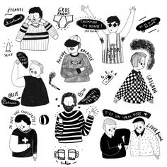 Girls & Boys on Behance Illustration Ligne, Illustration Mignonne, Simple Illustration, Illustration Sketches, Illustrations And Posters, Character Illustration, Graphic Illustration, Digital Illustration, Creation Art