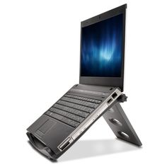 Buy Kensington SmartFit Easy Riser Laptop Cooling Stand at Mighty Ape NZ. With over 20 years of ergonomics expertise, trust Kensington to maximize your desktop space with this professional laptop cooling stand. Laptop Cooling Stand, Laptop Stand, Macbook, Tilt Angle, Laptop Cooler, Monitor Stand, Samsung, Eye Strain, Car Mount