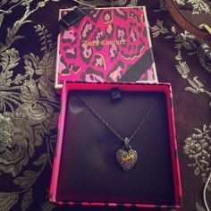 Juicy Couture necklace brand new Gun metal brand new in box . Juicy Couture Accessories