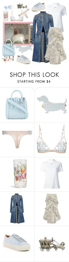 """Sooooo Munich- the style of my hometown. Finally sun!"" by juliabachmann ❤ liked on Polyvore featuring Alexander McQueen, Thom Browne, Off-White, Zimmermann, Marc Fisher LTD and Sunday Somewhere"