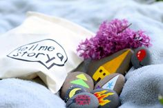 Story Stones and Gift Bag | craftingconnections.net