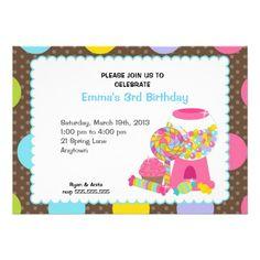 Candyland Birthday Party Invitations