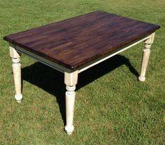 refinish kitchen table | Farm table refinished | Refinishing kitchen table | Pinterest