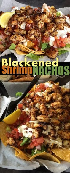 Blackened Shrimp Nachos from Safe Harbor Seafood Market and Restaurant. (no recipe)
