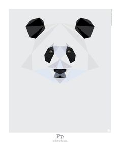 Graphic Art: Animal Alphabet by Mat Mabe Photo // Ailuropoda melanoleuca Black and white and shy lover, this perennial Chinese favourite is fluffy, gentle and endangered.
