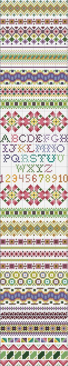 October 2011 Stitch Sampler.