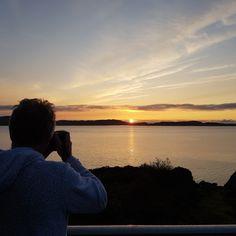 My husband tacing pictures. Sunrise. Skudeneshavn. Norway. Tone Lepsøes pictures.