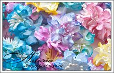 Multicolored flower tutorial by the amazing Natalia