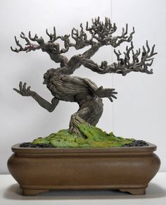 Bonsai Tree Ent by kgosselin - amazing!  Man in the trunk!
