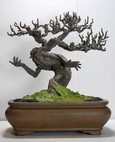 Bonsai Tree Ent by kgosselin - amazing!  Man in the trunk!