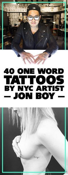 40 Tiny One Word Tattoos by NYC Artist JonBoy