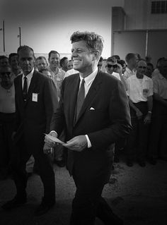 JFK goes to make a speech at Rice University, Houston, Texas ~ Sept. 12th, 1962