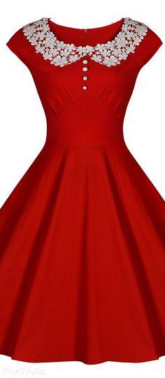 MIUSOL Classy 1940's Audrey Hepburn Rockabilly Dress