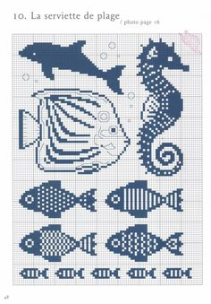 cross stitch chart also for filet crochet Cross Stitch Sea, Cross Stitch Animals, Cross Stitch Charts, Cross Stitch Patterns, Cross Stitching, Cross Stitch Embroidery, Embroidery Patterns, Knitting Charts, Knitting Patterns