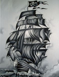 illustrations of pirates and ships - Google Search