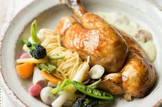 Michel Roux Jr's Roast Chicken with Mustard - Love him on Masterchef and this recipe looks divine.