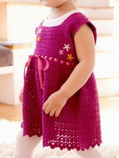 Crochet SundressModern Design for your favorite little girl.... This pattern is available for free... Full post: Crochet Sundress