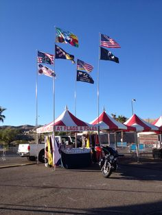 Selling flagpoles and flags