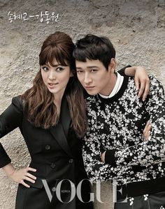 Kang Dong Won and Song Hye Kyo are a Classy Parisian Couple for Vogue Song Hye Kyo, Vogue Korea, Top Celebrities, Celebs, Kang Dong Won, Korean Star, Soyeon, Vogue Magazine, Celebrity Couples