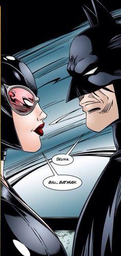 Batman and cat woman #batman #catwoman #comics