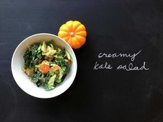 Creamy Kale Salad - wild rose cleanse approved