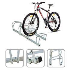 Râtelier familial pour 4 vélos – Accroche vélo au sol ou mural en acier galvanisé