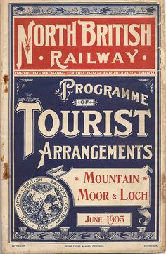 North British Railway - Tourist Timetables - June 1903