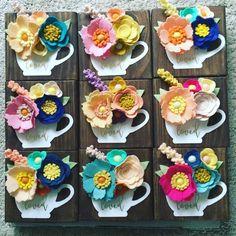 Half of these little ladies are spoken for but the other half will be heading to my shop next week! #felt #feltflowers #wood #woodart #woodsign #home #rusticsign #homedecor #decor, #signmaker #signs #decorating #createart #craftaholic #maker #vintage #makersgonnamake #create #etsyshop #teacupsign #makersmovement #teacup #handmadedecor #decor #handcrafted #craftsposure #handsandhustle #lovedsign #calledtobecreative #loved #feltfascination
