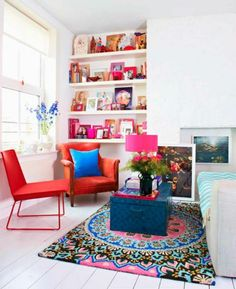 Whether you gravitate toward a quieter palette or a color-drenched one, working in neon shades is easier than you may think. Here are 31 bright ideas for basking in this brilliant color trend.