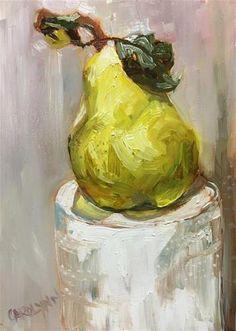 "Daily Paintworks - ""Rocking Pears"" - Original Fine Art for Sale - © Carolynn Doan"