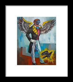 Framed Print featuring the painting Corbul by Carmen Stanescu Kutzelnig Hanging Wire, Fine Art America, Framed Prints, Painting, Paintings, Draw, Drawings