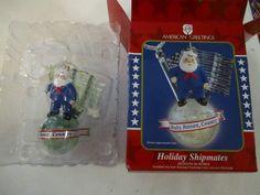 Navy Santa Christmas Ornament Holiday Shipmates American Greetings Globe 2005