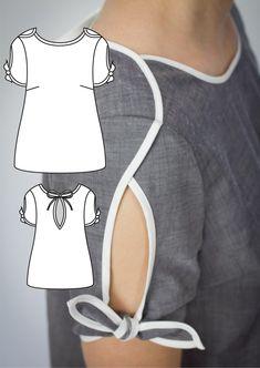 Bela Blouse and Dress Pattern - Dress Pattern - Dress Sewing Pattern - Shift Dress patterns - Womens Dress Sewing Pattern Bela Blouse and Dress Pattern Dress Pattern Dress Sewing Kurti Sleeves Design, Sleeves Designs For Dresses, Kurti Neck Designs, Blouse Designs, Neck Designs For Suits, Sleeve Designs, Dress Sewing Patterns, Blouse Patterns, Pattern Sewing