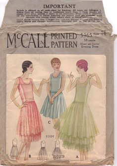 McCall 5365 1928 Available in Misses and Teen Sizes