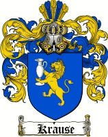 Krause Coat of Arms / Krause Family Crest - www.4crests.com #coatofarms #familycrest #familycrests #coatsofarms #heraldry #family #genealogy #familyreunion #names #history #medieval #codeofarms #familyshield #shield #crest #clan #badge #geneology #tattoo #ancestry