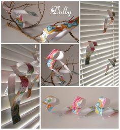 Papierowe ptaszki / Paper birds DIY