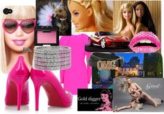 """Greedy Golddigger Bimbo"" by mbaileydesigns on Polyvore"