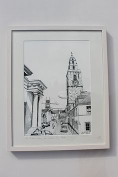 The Butter Exchange and Shandon Tower Cork Irish Art, Art For Sale, Dublin, Cork, Tower, Butter, Framed Prints, Drawings, Painting