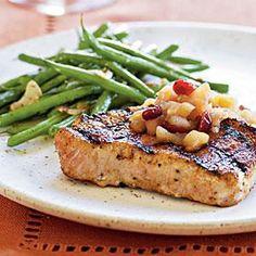 Spiced Pork Chops with Apple Chutney | MyRecipes.com