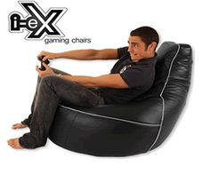 i-eX Elite Gaming Chair, Black, Faux Leather Gaming Bean Bag - Video Gaming Entertainment Chair Industrial Dining Chairs, Farmhouse Dining Chairs, Bean Bag Gaming Chair, Bean Bag Chair, Home Staging, Huge Bean Bag, Chair Photography, Adirondack Chair Cushions, Most Comfortable Office Chair