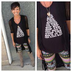 #statementtop #statementclothing #leggings #karmaboutiqueonmain @karmaboutiqueonmain #layers
