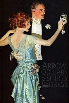 JC Leyendecker's illustrations for Arrow Shirt advertising