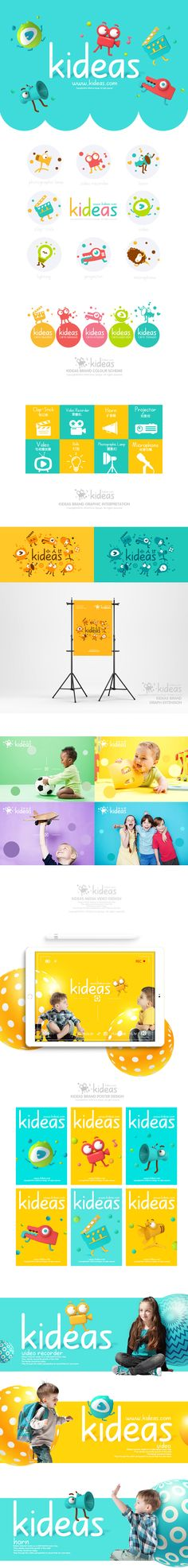 Kideas Internet Parent&Child&Kids from media brand VI on Behance