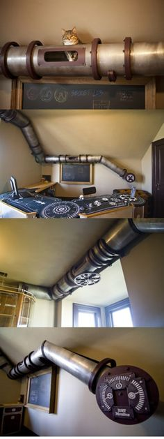 Steampunk cat tunnels - To amuse your pussy -   -  To connect with us, and our community of people from Australia and around the world, learning how to live large in small places, visit us at www.Facebook.com/TinyHousesAustralia or at www.tumblr.com/blog/tinyhousesaustralia